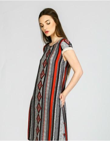 Rochie imprimeu etno